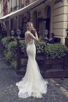 Fishtail Elegance With Sexy Low Back On This Gorgeous Lace Wedding Dress Available To Try