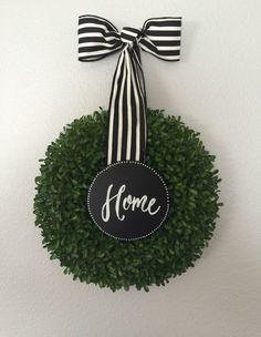 Green Shrub Wreath / Green Wreath / Spring by SouleHomeDecor