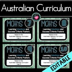 AUSTRALIAN NATIONAL CURRICULUM MATHEMATICSEDITABLEAll Four Year Levels in One purchase. Completely editable.