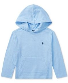 Ralph Lauren Cotton Hoodie, Toddler Boys (2T-5T) - Light Blue 2/2T