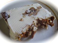 Peanut Butter And Pretzel Terrine. Sweet and salty perfection.