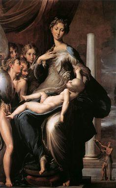 """""""La Virgen del cuello largo"""" (1534)- Parmigianino (Manierismo) (Italia) (1504-1540)."""