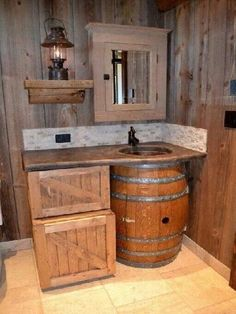 Rustic cabin bathroom decor rustic bathroom wall decor decor ideas rustic decorating ideas for your home House Design, Rustic Bathroom Designs, Rustic Cabin, Rustic Decor, Home Remodeling, Rustic Furniture, Rustic Bathrooms, Barrel Furniture, Rustic House