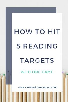 How to Hit 5 Reading Targets with One Game | There are so many different factors that play into learning to read and write effectively. It can often feel overwhelming as parents or educators to fit all of them in.
