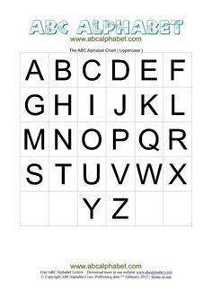 Printable Alphabet Letters Templates   ABC Alphabet Chart Uppercase   ABC Alphabet Com