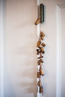 Editor in Chief Maria's windchime by the front door imparts good energy