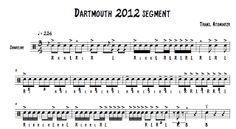 dartmouth high school indoor drumline sheet music snare solo wgi