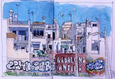 Sketching Barcelona, des croquis de rue géniaux !