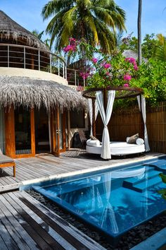 """W Retreat & Spa Maldives - This """"Beachfront Retreat"""" is one of the most incredible hotel rooms I've ever been lucky enough to spend a few nights in...Private pool and just a few steps from the turquoise sea."""