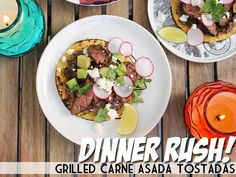 Dinner Rush! Grilled Carne Asada Tostadas | Devour The Blog: Cooking Channel's Recipe and Food Blog