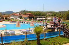 Main terrace and swimming pool with Lazy River http://www.traveltofethiye.co.uk/explore/activities/oludeniz-water-world-aqua-park/