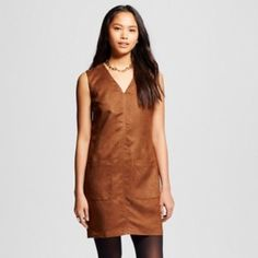NWT DRESS Suede like material dress with pockets. Perfect for work or play. Dresses