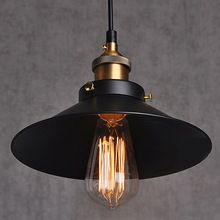 painted Iron Pendant Lighting Vintage Lamp Incandescent Bulbs E27 Touch Switch Stainles Vintage Industrial Lighting Fixtures(China (Mainland))