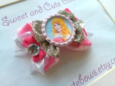 Princess Aurora  Sleeping Beauty  Briar Rose by SweetandCuteBows, $8.00