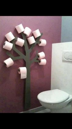 Toilet paper tree for kids bathroom. Lol they'd have the bathroom looking like it was Halloween all year I can picture toilet paper streamers everywhere!