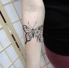 Half floral butterfly by Mac