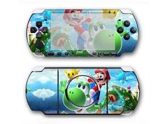 Super Mario Galaxy PSP 3000 skin for PSP 3000 console. Choose your favorite design from a huge range of PSP skin collection for PSP 3000 console. Xbox One Skin, Console Styling, Ps4 Skins, Psp, Super Mario, Games To Play, Sunglasses Case, Decal, Sticker