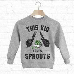 Batch1 This Kid Loves Sprouts Children's Christmas Sweatshirt