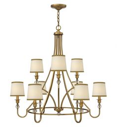 Hinkley Lighting - 4878BR - Morgan Brushed Bronze 9 Light Chandelier #sophisticateddesign