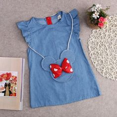 Toddler children clothes casual princess Baby Kids Girl Dress Minnie Mouse Demin Gown Formal Party Dresses Casual Clothes - Online Shopping Site - - Source by buzemine Baby Girl Fashion, Fashion Kids, Dresses Kids Girl, Girl Outfits, Dress Girl, Blue Dresses For Kids, Casual Dresses, Casual Outfits, Casual Clothes