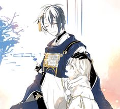 Touken Ranbu * Mikazuki Munechika * Tsurumaru Kuninaga「刀剣LOG」/「ホエール」のイラスト [pixiv]
