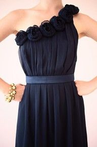 bridesmaid dress, like one shoulder... not sure if I love the flower things though?