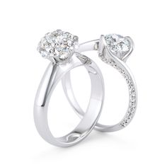 Cluster style engagement rings