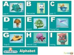 Octonauts alphabet - K loves, loves, loves Octonauts!
