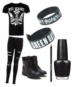 """""""Bands <3"""" by donna-bender ❤ liked on Polyvore featuring Miss Selfridge, OPI and Lancôme"""