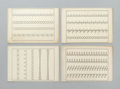 french handwriting cards