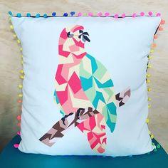 Parrot cushion special edition #parrot #bird #cute #samba #happy #color #splash…