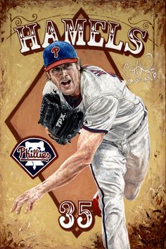 """Cole Hamels of the Philadelphia Phillies in """"Diamond in the Rough"""" by Justyn Farano."""