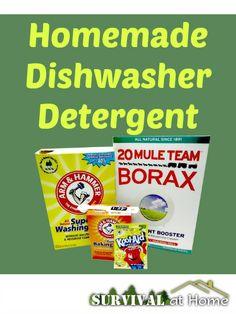 Homemade Dishwasher Detergent (via Survival at Home)