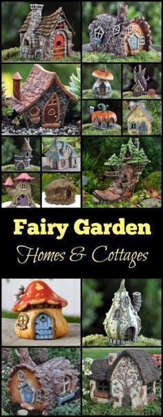 Fairy Garden Homes & Cottages I LOVE!! These give me lots of inspiration to built my own too!