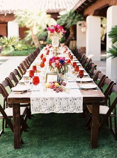 I love the clean wood with lace.  Frida Kahlo inspired real wedding from Ace & Whim via Wedding Sparrow