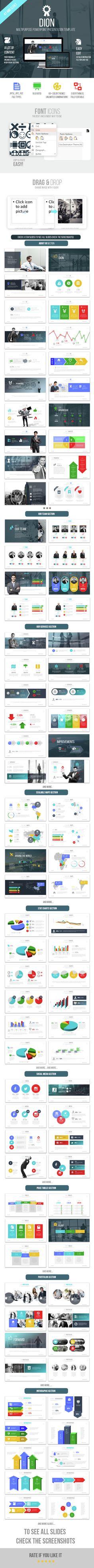 ELEVATOR Multipurpose PowerPoint Presentation Template Pinterest - Awesome logo presentation template scheme