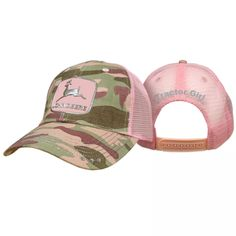 Find John Deere Women's Liquid Metal Logo Pink Cap in the Women's Hats & Caps category at Tractor Supply Co.The John Deere Women's Liquid Metal John Deere Fabric, John Deere Hats, Lady Logo, Camo Hats, Women's Hats, Pink Camouflage, Liquid Metal, Mesh Cap, Silver Logo