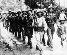 Seeds of Conflict 1954 - Outnumbering the French nearly five-to-one, 50,000 Viet Minh under Gen. Giap begin their assault against the fortified hills protecting the Dien Bien Phu air base. France proceeds to withdraw completely from Vietnam, ending a bitter eight year struggle against the Viet Minh in which 400,000 soldiers and civilians from all sides had perished.