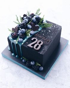 black square birthday cake Decoration Craft Gallery Ideas] Related posts:celestial wedding cakeUploaded fileLearn how to make gelatin bubbles in this CUTE gelatin balloon cake decorating v. Beautiful Birthday Cakes, Beautiful Cakes, Amazing Cakes, Pretty Cakes, Cute Cakes, Yummy Cakes, Food Cakes, Cupcake Cakes, Book Cupcakes