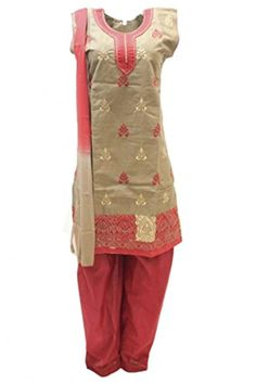 Green and Red Salwar Kameez - Brought to you by Avarsha.com