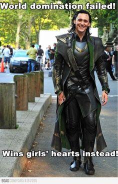 Hiddles- Tom Hiddleston, Loki the heart breaker.