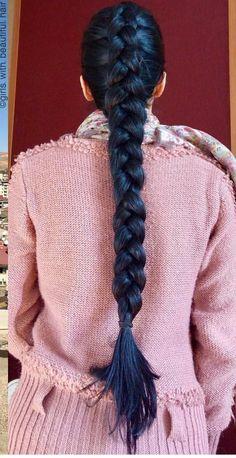 Beautiful Braids, Beautiful Long Hair, Amazing Hair, Ladies Hairstyles, Long Hairstyles, Braided Hairstyles, Two Braids, Braids For Long Hair, Underlights Hair