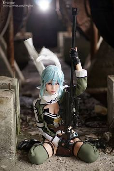 Sinon cosplay in GGO by  Ely Cosplay