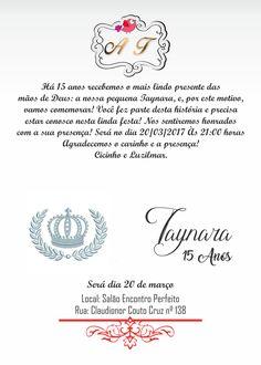 convite aniversário de 15 anos 02 lado interno esquerdo e direito