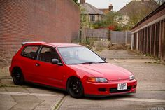 red eg honda civic