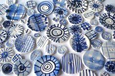 Handmade buttons from De Eerste Kamer Keramiek, i love them!