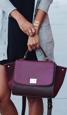 The weekend crossover bag in a gorgeous berry color.