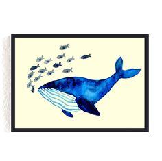 Print *Blauwal* #wal #blauwal #meer
