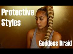 When you need a break from Curls this style can transform your whole look, quick and simple. This Goddess Braid can be done many different ways while your ha...