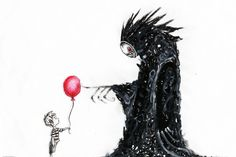 monstros e baloes by tamillegarcias on DeviantArt Print Image, Horror Pictures, Red Balloon, Balloons, Beautiful Artwork, Art Music, Traditional Art, Illustrations Posters, Wall Art Prints